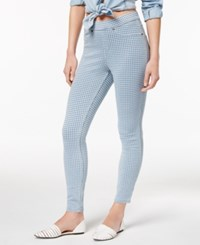 Hue Women's Gingham Denim Skimmer Leggings Chambray
