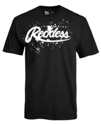 Young And Reckless Drip Logo Print T Shirt Black