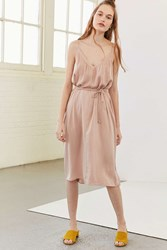 Kimchi And Blue Belted Midi Slip Dress Peach