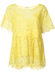 P.A.R.O.S.H. Lace Blouse Women Polyester S Yellow Orange