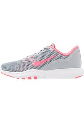 Nike Performance Flex Trainer 7 Sports Shoes Wolf Grey Racer Pink