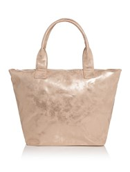 Seafolly Vegan Leather Shopper Tote Rose Gold