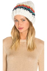 Free People Over The Rainbow Beanie White
