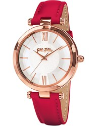 Folli Follie Wf16r010sps_Dr Rose Gold Plated Stainless Steel Leather Watch