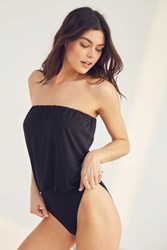 Out From Under Suzanne Strapless Bodysuit Black