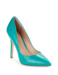 Charles By Charles David Pact Leather Stiletto Pumps Sea Green