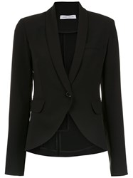 Gloria Coelho Crepe Smoking Blazer Black