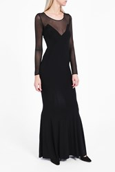Norma Kamali Women S Long Sleeve Fishtail Gown Boutique1 Black