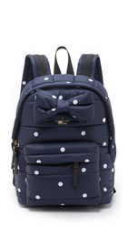 Kate Spade Colby Court Reid Backpack Rich Navy Ballerina Pink