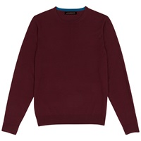 Jaeger Gostwyck Merino Crew Neck Jumper Red