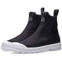Stone Island Shadow Project Canvas Combat Boot Black