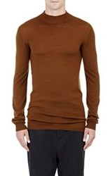 Rick Owens Mock Turtleneck Sweater Gold
