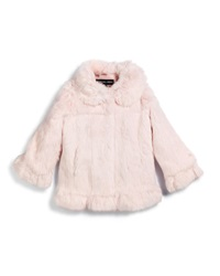 Adrienne Landau Button Front Rabbit Fur Coat Pink Size 2 16
