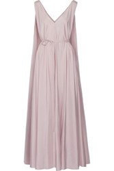 The Row Adabra Silk Poplin Maxi Dress Lilac