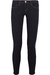 L'agence The Chantal Low Rise Skinny Jeans Dark Denim