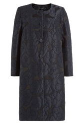 Tara Jarmon Embroidered Evening Coat Blue