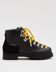 Proenza Schouler Leather Hiking Boot Black