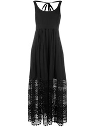N 21 No21 Embroidered Maxi Dress Black