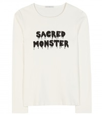 Alexa Chung For Ag Sacred Monster Cotton Top White