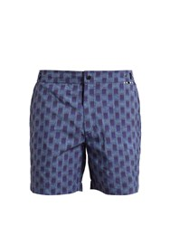 Danward Abstract Print Swim Shorts Navy