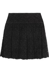 Dkny Pleated Guipure Lace Mini Skirt