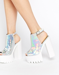Daisy Street Silver Holographic Mollie Shoes Silverholographic