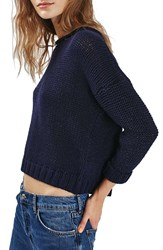 Topshop Women's Back Zip Tube Knit Slouchy Sweater