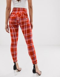 Freddy Wr.Up Check Push Up Jegging Red