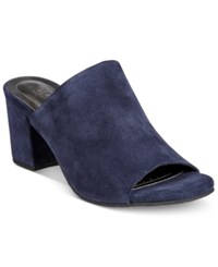 Kenneth Cole Reaction Women's Mass Ter Mind Peep Toe Mules Women's Shoes Navy