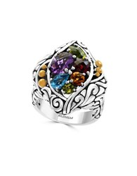 Effy Amethyst Blue Topaz Citrine Garnet Peridot And 18K Gold Plated Sterling Silver Ring