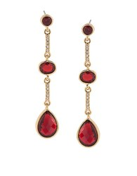 Carolee The Big Apple 12K Goldplated Linear Drop Earrings Red