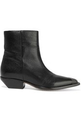 Iro Woman Santiago Studded Leather Ankle Boots Black