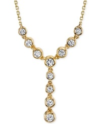 Sirena Diamond Lariat 1 2 Ct. T.W. Necklace In 14K White Or Yellow Gold