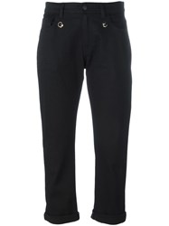 Fendi Cropped Trousers Black