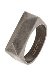Oxxo Ring Oxidized Steel Silver