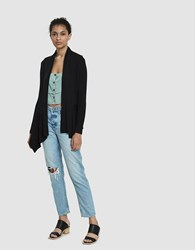 Which We Want Kandance Draped Cardigan In Black