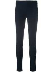 Joseph Skinny Stretch Trousers Cotton Spandex Elastane Viscose Blue