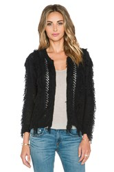 Twelfth St. By Cynthia Vincent Fringe Sweater Black