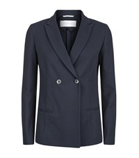 Fabiana Filippi Cotton Tuxedo Jacket Female Blue