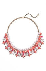 Women's Kent And King 'Drama' Crystal Bib Necklace Pink Coral