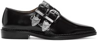 Toga Pulla Black Two Buckles Loafers