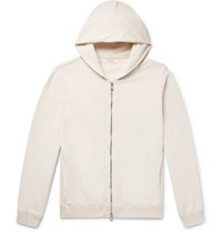 Nonnative Coach Loopback Cotton Jersey Zip Up Hoodie Cream