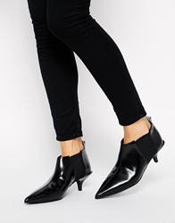 Cheap Monday Bat Black Kitten Heel Boots