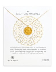 Dogeared Gratitude 14K Gold Dipped Sterling Silver Pendant Necklace