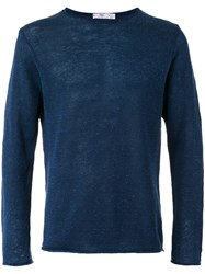 Inis Meain Round Neck Jumper Blue