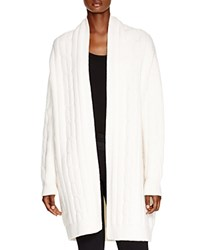 Dkny Cable Knit Open Front Cardi Coat Winter White