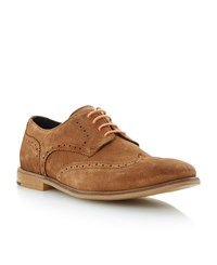 Bertie Aston Suede Lace Up Brogues Tan