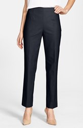 Petite Women's Nic Zoe 'The Perfect' Side Zip Ankle Pants Midnight