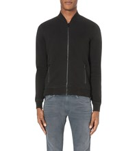 Replay Basic Cotton Jersey Jacket Off Black