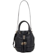 See By Chloe Vicki Large Leather Bucket Bag Black